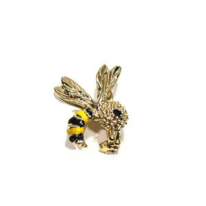 Vintage Gerry Bumble Bee Pin Brooch Gold